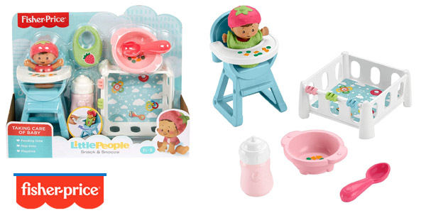 Set Little People Bebe Siesta y Comidita de Fisher Price barato en Amazon