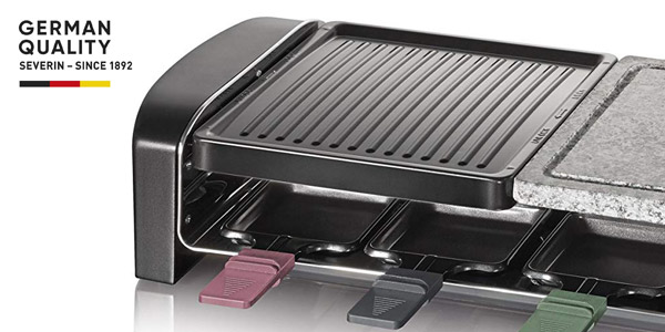 Raclette Grill Severin RG 9645 de 1.400W con 8 mini sartenes chollo en Amazon