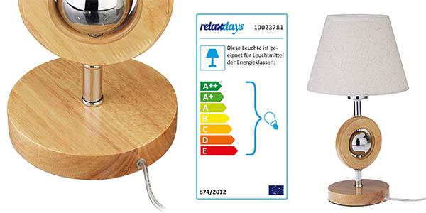 Relaxdays lámpara de mesa decorativa barata