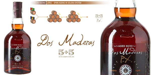Ron Dos Maderas 5+5 PX Añejo Triple Crianza de 50 cl barato en Amazon