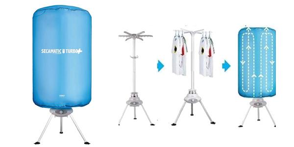 Secadora de aire portátil sin rozamiento Secamatic Turbo Plus de 1.000W barata en Amazon