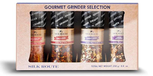 Pack x4 Molinillos Selección Gourmet Especias The Silk Road Company chollo en Amazon