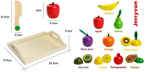 """Set de Frutas y Verduras de madera Jerryvon """"para cortar"""" chollazo en Amazon"""