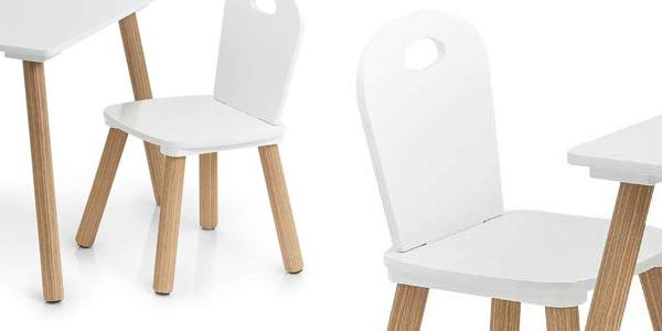 Set de mesa y 2 sillas infantiles Zeller Scandi chollazo en Amazon