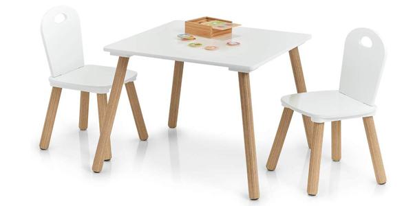 Set de mesa y 2 sillas infantiles Zeller Scandi barato en Amazon