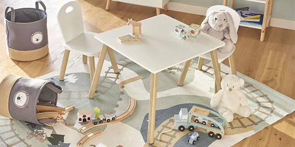 Set de mesa y 2 sillas infantiles Zeller Scandi chollo en Amazon