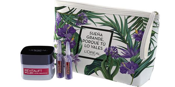 Set de Regalo L'Oréal Paris con Revitalift Filler Crema de Día + Ampollas Rellenadoras + Neceser barato en Amazon