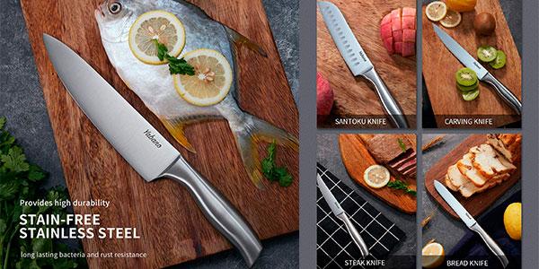 Set Yabano de cuchillos de cocina de acero alemán de 16 piezas barato