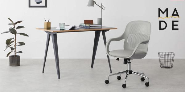Silla de oficina Hank Office Chair en color gris chollo en Made
