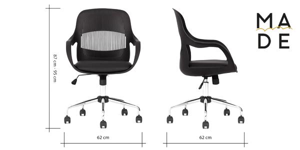 Silla de oficina Hank Office Chair en color gris chollazo en Made