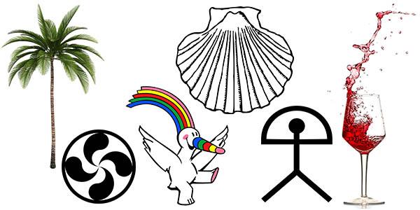símbolos iconos de ciudades de España