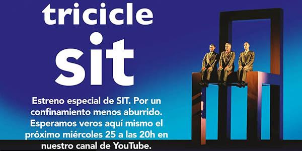 Sit Tricicle obra de teatro gratis en streaming YouTube por el coronavirus