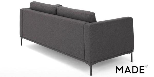 Sofá de 2 plazas grande Milo Space Grey chollazo en Made