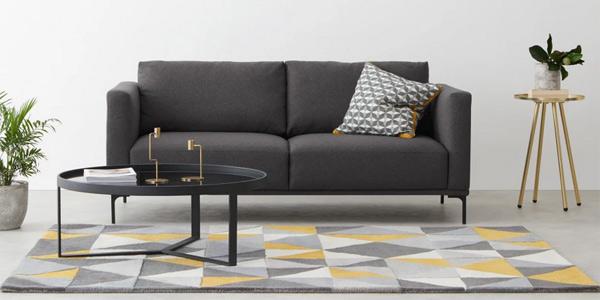 Sofá de 2 plazas grande Milo Space Grey chollo en Made