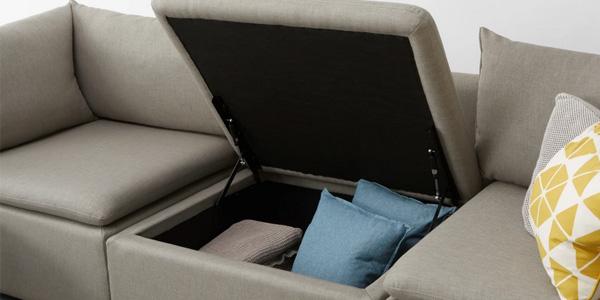 Sofá de 3 asientos con almacenaje Victor chollo en Made