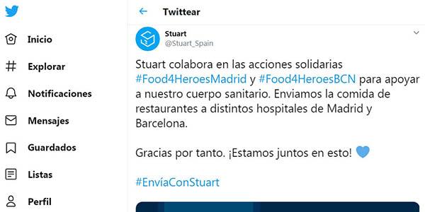 Stuart iniciativa Food4heroes coronavirus