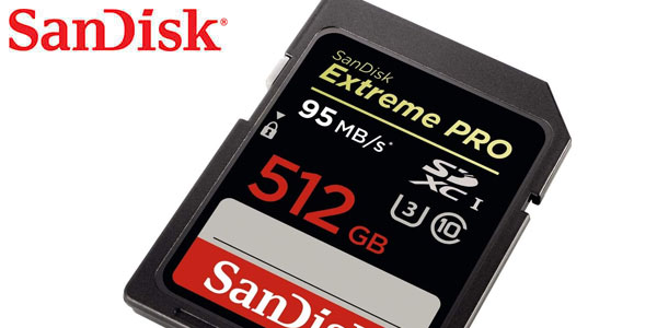 Tarjeta de memoria Sandisk Extreme Pro SDXC 512 GB en oferta en Amazon