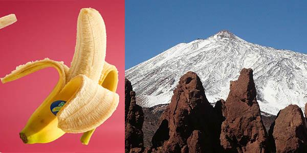 Teide plátano símbolo Islas Canarias