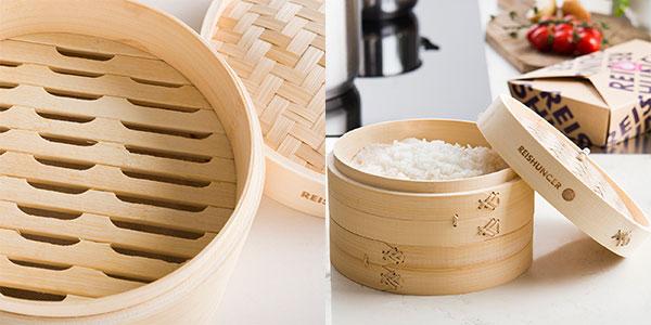 Vaporera de bambú Reishunger para 4 personas barata