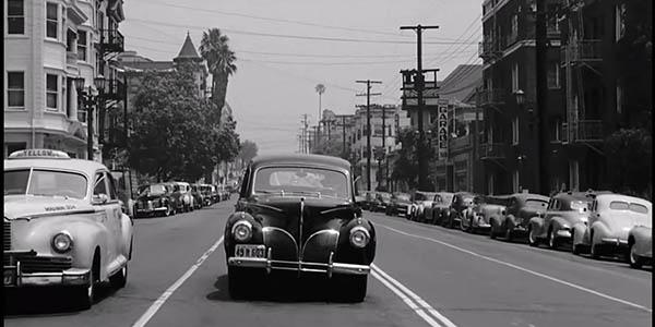 viaje en coche vintage por Los Ángeles vídeo antiguo de las décadas 1940-60