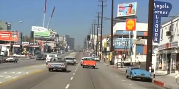 vídeo paseo virtual en coche vintage California Los Ángeles Open Culture