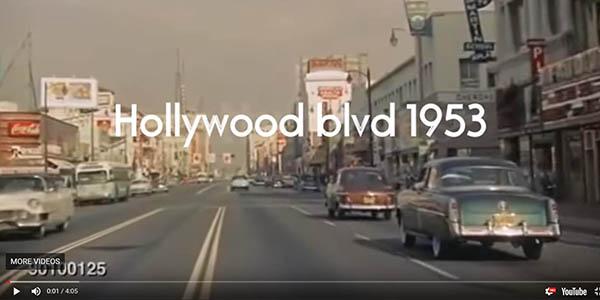 vídeos antiguos para pasear en coche por Los Ángeles en Open Culture
