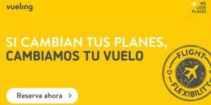 Vueling cambio de vuelos gratis