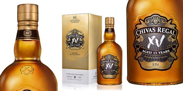 Whisky escocés Chivas Regal XV Gold mezcla Premium de 700ml barato en Amazon