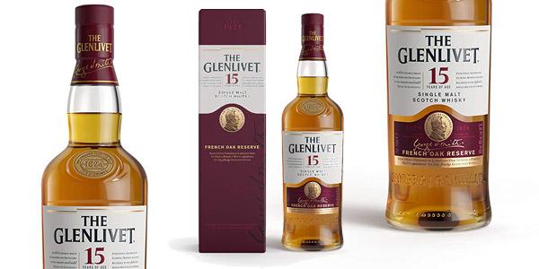 Whisky Escocés de Malta Premium The Glenlivet 15 años de 700 ml barato en Amazon