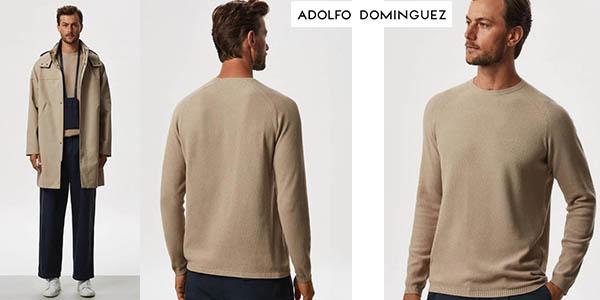 Adolfo Domínguez polo de punto con cuello redondo chollo