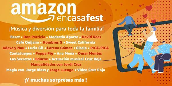 Amazon encasafest conciertos con donación a la Cruz Roja
