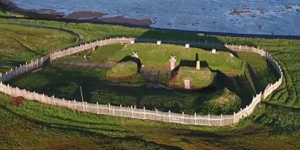 Anse Aux Meadows viviendas vikingas en Canadá