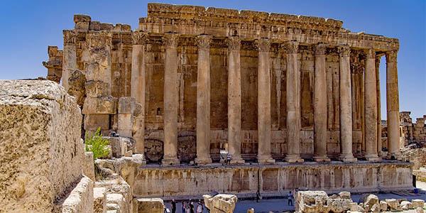 Baalbek yacimiento arqueológico romano en el Líbano