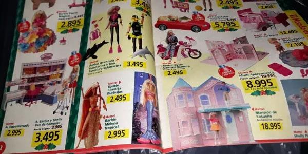 Barbies de los años 90 precios en pesetas