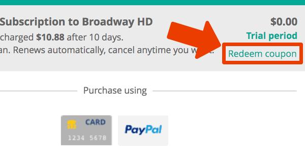 BroadwayHD cupón mes gratuito
