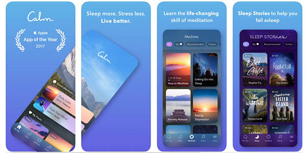 Calm aplicación para meditar gratis