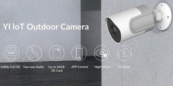 Cámara WiFi Exterior Xiaomi YI loT 1080P en AliExpress