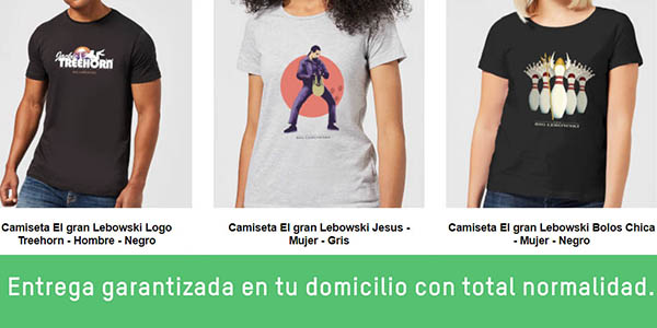 camiseta taza película El Gran Lebowski oferta Zavvi