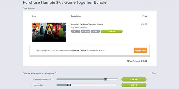 Comprar Humble 2K's Game Together Bundle
