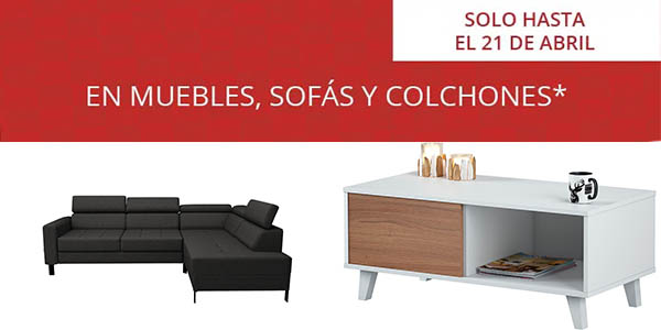 Conforama sofás, muebles y colchones en los Días sin IVA