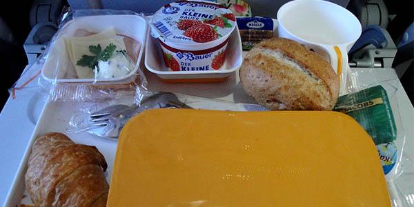 curiosidades sobre la comida de los aviones