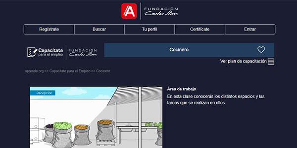 curso de cocina gratis de la Fundación Carlos Slim