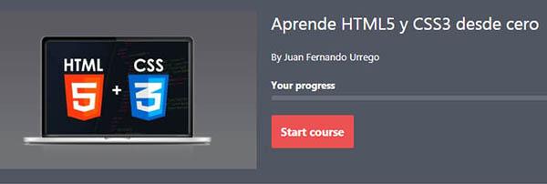 curso HTML5 y CSS3 gratuito desde cero en Udemy