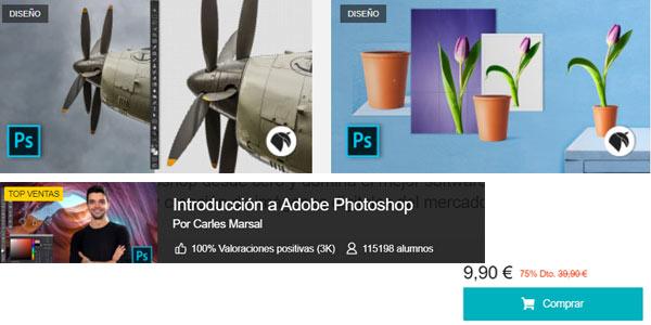 Curso iniciación a Adobe Photoshop en oferta en Domestika