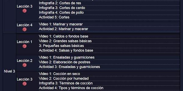 curso con lecciones de cocina Carlos Slim fundación gratis