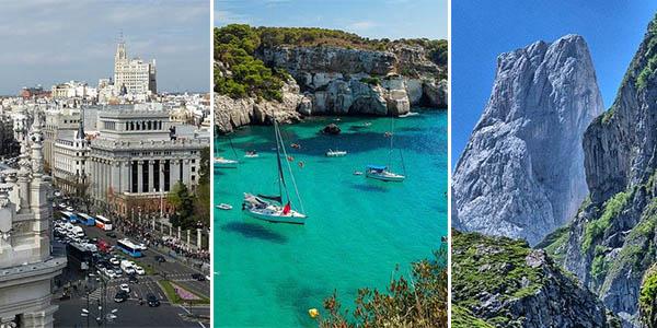 destinos de costa, montaña y ciudad recomendados para visitar en España