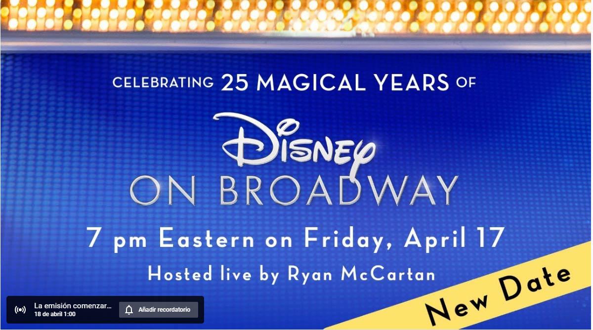 Disney 25 aniversario espectáculo gratis YouTube
