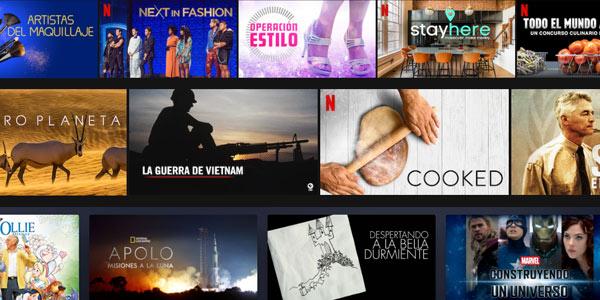 Concursos y documentales en las principales plataformas de streaming