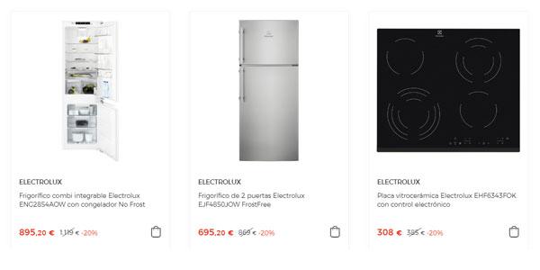 Electrodomésticos Electrolux con descuento en El Corte Inglés