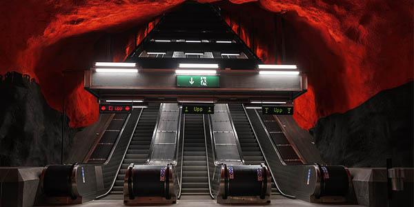 estación de metro Solna en Estocolmo una de las más bonitas del mundo